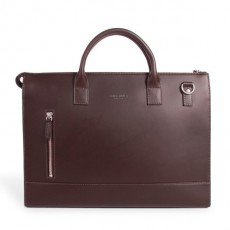 Suffren Brown Leather Briefcase
