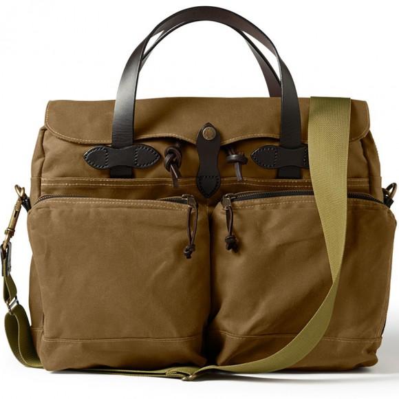 24 Hour Tin Cloth Briefcase Dark Tan