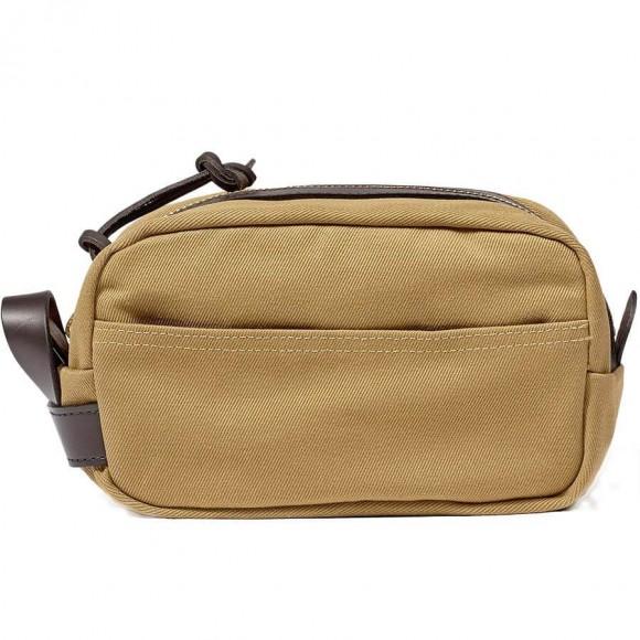 Rugged Twill Travel Kit Tan