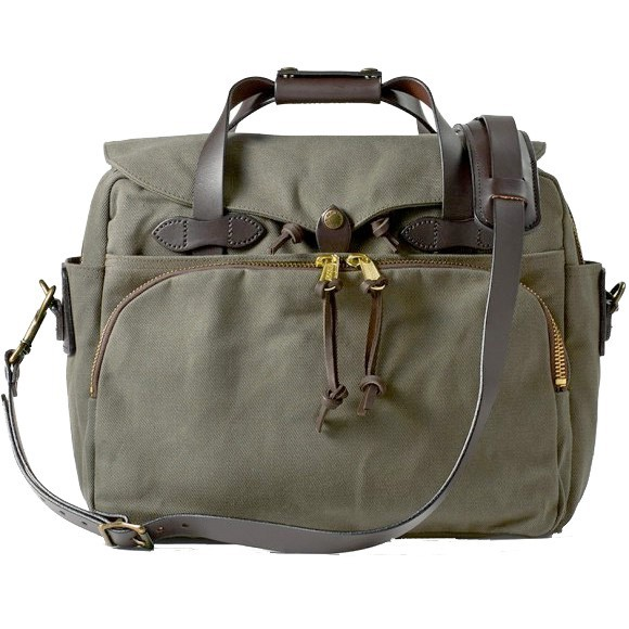 Rugged Twill Padded Computer Bag Otter Green