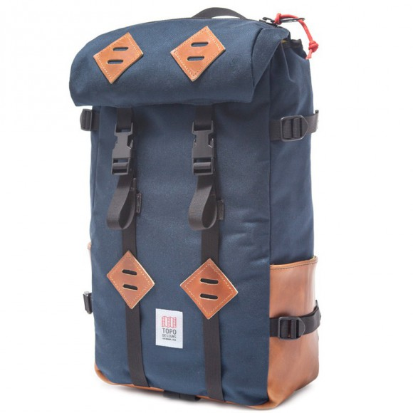 Klettersack Navy / Brown Leather
