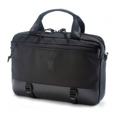 Commuter Briefcase Ballistic Black / Black Leather