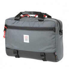 Commuter Briefcase Charcoal / Black Leather