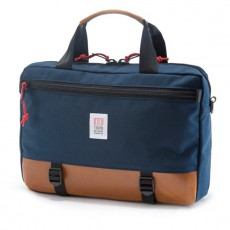 Commuter Briefcase Navy / Brown Leather