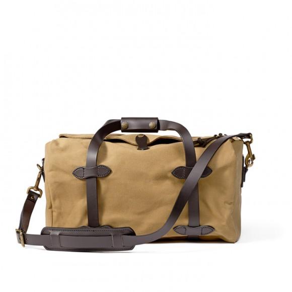 Small Rugged Twill Duffle Bag Tan