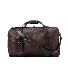 Medium Weatherproof Leather Duffle Bag Sierra Brown