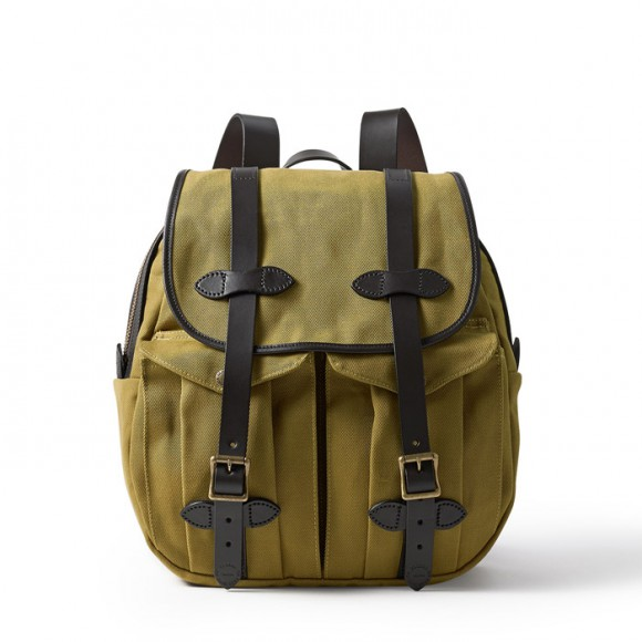 Rugged Twill Rucksack Backpack Tan