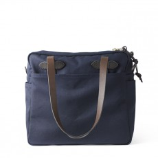 Rugged Twill Tote bag With Zipper Navy