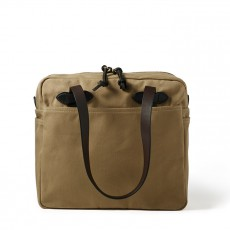Rugged Twill Tote bag With Zipper Tan