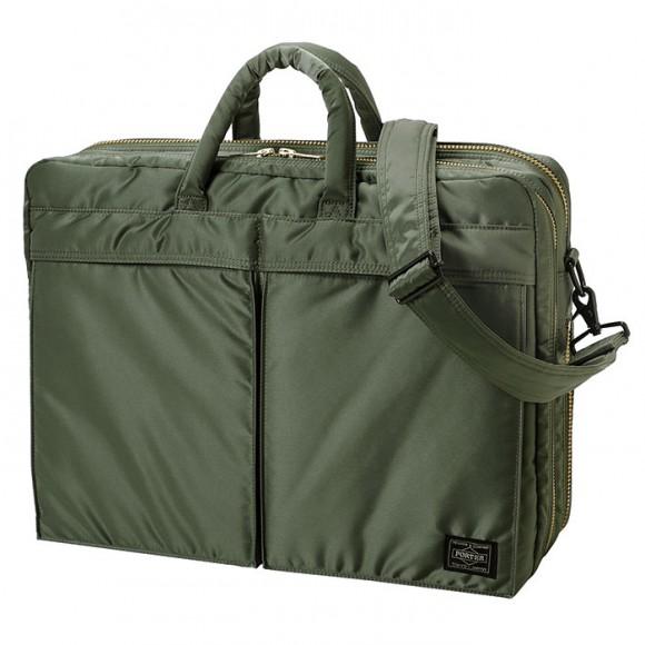 Tanker New 2 Way Briefcase Sage Green